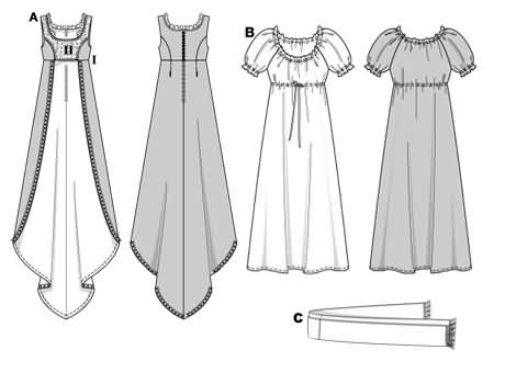 Burda Empire-line dress 2493