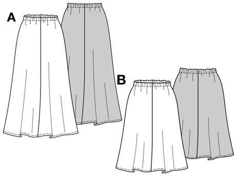 Burda Skirt 3152