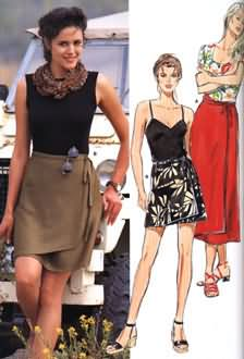 Burda Wrap Skirt 3471