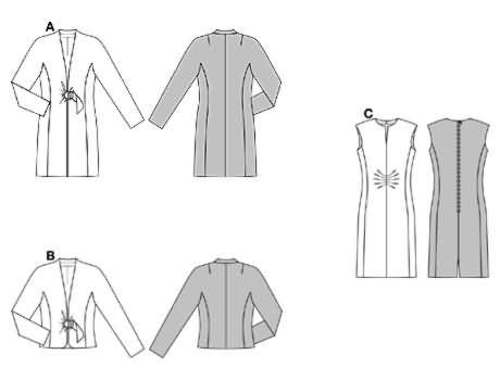 Burda Dress and jacket 8285