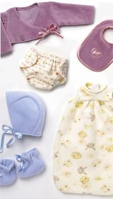 Burda Baby doll accessories 8306