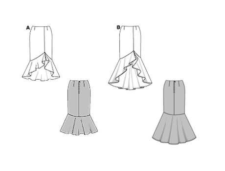 Burda Skirt 8327