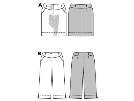 Burda Skirt and trousers/pants 8343