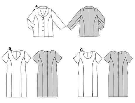 Burda Dress and jacket 8530
