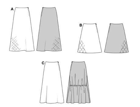 Burda Skirt 8879