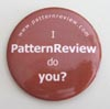 I PatternReview Button - Brown