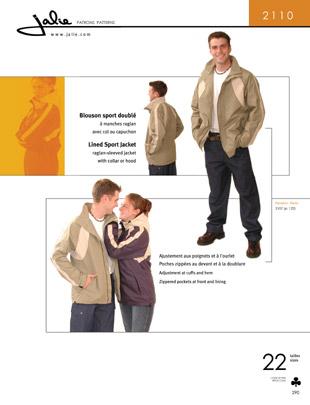 Jalie Lined sport jacket 2110