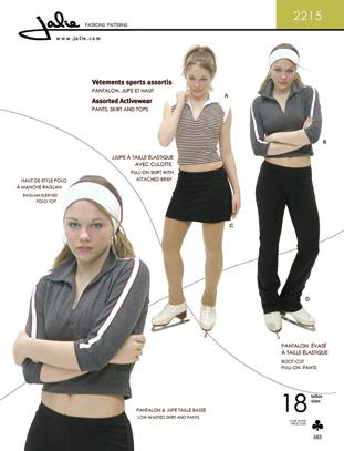 Jalie Assorted Activewear 2215