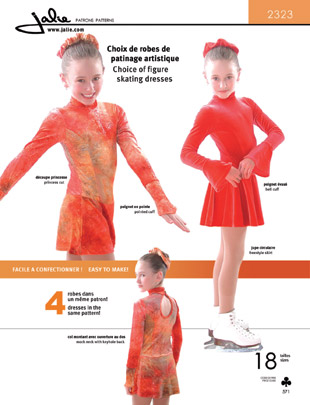 Jalie Choice of figure skating dresses 2323