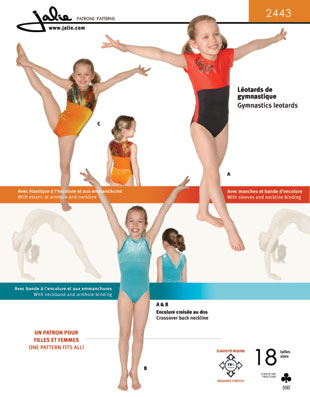 Jalie gymnastics leotard 2443