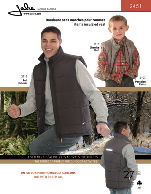 Jalie Men's insulated vest 2451