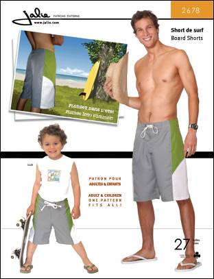 Jalie Board Shorts for Men 2678
