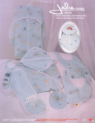 Jalie Choice of accessories for new borns 953