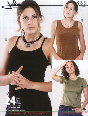 Jalie camisole and t-shirt 965