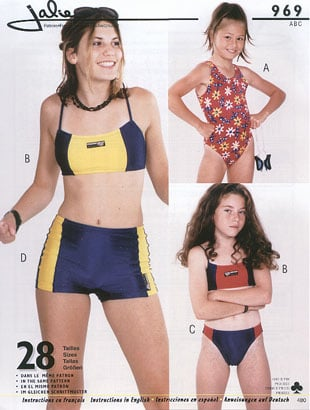 Jalie One piece and two pieces swimsuits 969