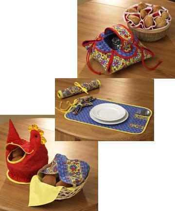 Kwik Sew Crafts Placemat, Bunholders, Casserole Holder 1135