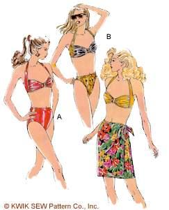 Kwik Sew Misses Swimsuit & Skirt 2082