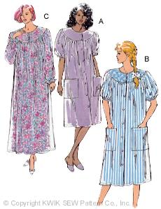 Kwik Sew Misses Duster & Nightgown 2172