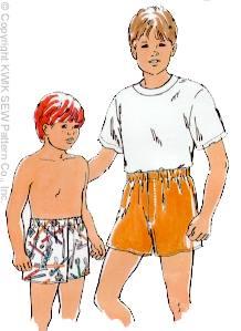 Kwik Sew Boys Boxer Shorts 2179