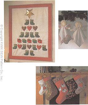 Kwik Sew Crafts Angel, Advent Calendar & Stockings 2212