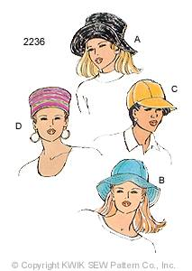 Kwik Sew Misses Hats 2236