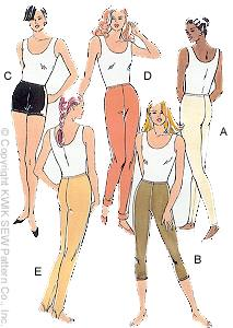Kwik Sew Misses Leggings & Shorts 2303