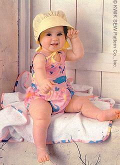 Kwik Sew Infant Swimsuit, Hat, & Towel 2329