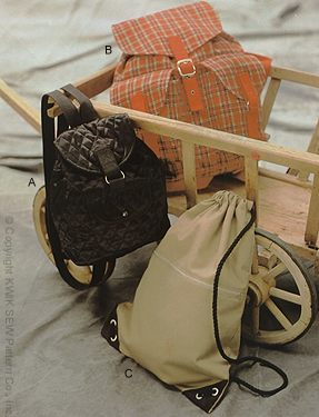 Kwik Sew  Back Packs 2379