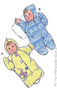 Kwik Sew Baby Bunting 2380