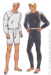Kwik Sew Men's long underwear 2389
