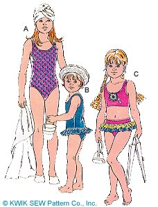 Kwik Sew Girls  Swimsuits 2422