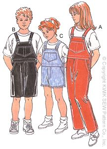 Kwik Sew Boys/girls coveralls 2426