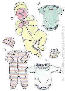 Kwik Sew Baby Rompers and Jumpsuits 2433
