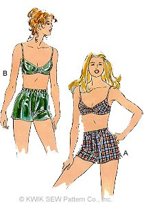 Kwik Sew Misses' Bra and Boxer Shorts 2489