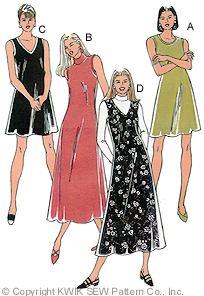 Kwik Sew Misses  Dresses & Jumper 2582