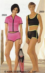 Kwik Sew Misses Swimsuits & Swim Jackets 2600