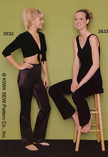 Kwik Sew Misses Catsuits 2633