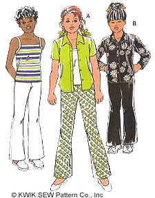 Kwik Sew Girls Pants, Blouse  & Camisole 2666