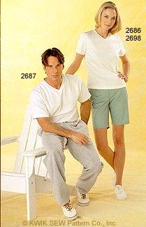 Kwik Sew Men's pants & tshirt 2687