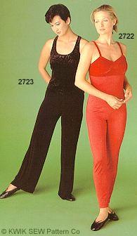 Kwik Sew Pants, Top and shorts 2723
