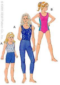 Kwik Sew Girls Leotards, Leggings & Shorts 2725