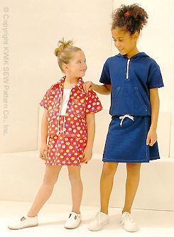Kwik Sew Girls' Skort & Tops 2751
