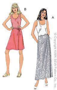 Kwik Sew Misses Tank Top & Skirts 2761
