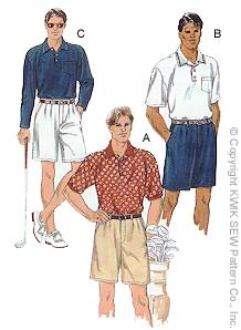 Kwik Sew Men Shorts & Shirts 2763
