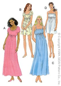 Kwik Sew Misses Nightgowns 2767