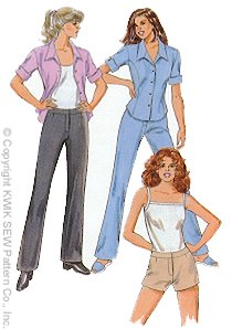 Kwik Sew Misses' Pants Shorts & Shirt 2772