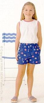 Kwik Sew Girls Shorts & Tops 2773