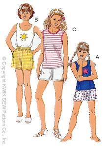 Kwik Sew Girls Shorts & Tops 2774