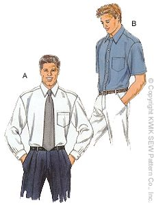 Kwik Sew Men's Shirts 2777