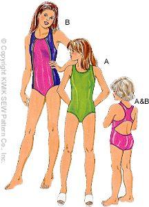 Kwik Sew Girls Swimsuits 2790